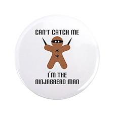 "Ninjabread Man 3.5"" Button"