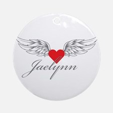 Angel Wings Jaelynn Ornament (Round)