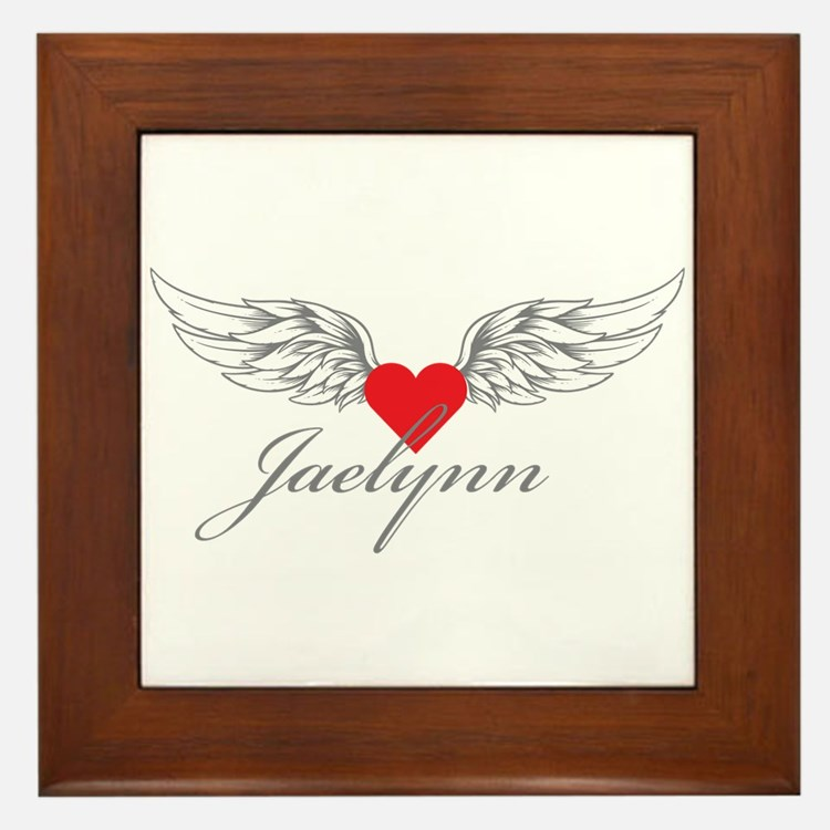 Angel Wings Jaelynn Framed Tile