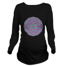 Digital Mandala 5 Long Sleeve Maternity T-Shirt