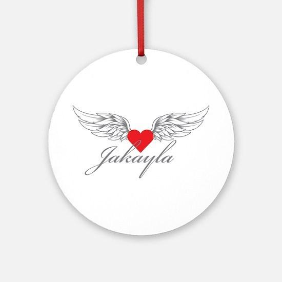 Angel Wings Jakayla Ornament (Round)