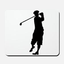 Golfer Silhouette Mousepad