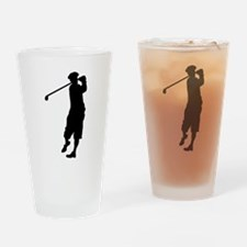 Golfer Silhouette Drinking Glass