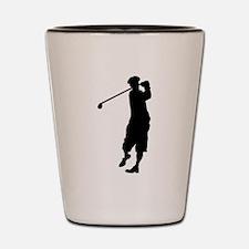 Golfer Silhouette Shot Glass