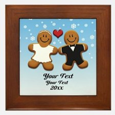 Personalize Gingerbread Bride and Groom Framed Til