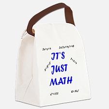 It's Just Math Text Design Educat Canvas Lunch Bag