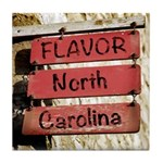 Flavor, NC Town Limits Tile Coaster / Spoon Rest