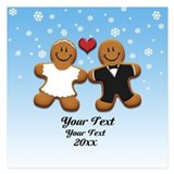 Save the date gingerbread 5.25 x 5.25 Flat Cards