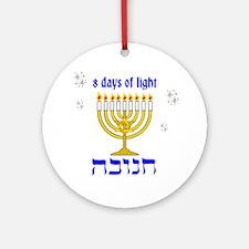 Chanukkah 8 days of light Ornament (Round)