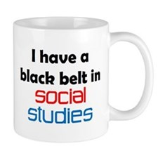 Social Studies Black Belt Small Mug