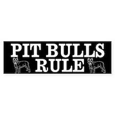 Pit Bulls Rule Bumper Bumper Sticker