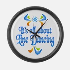 About Line Dancing Large Wall Clock