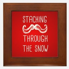 Staching Through the Snow Framed Tile