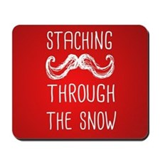 Staching Through the Snow Mousepad
