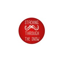 Staching Through the Snow Mini Button