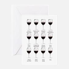 Wine tasting card, blank inside Greeting Cards