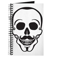 hipster scull with mustache Journal