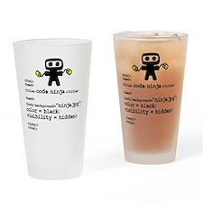 I code like a ninja Drinking Glass