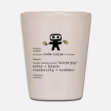 I code like a ninja Shot Glass