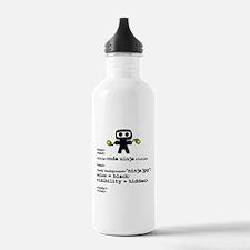 I code like a ninja Water Bottle
