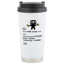 I code like a ninja Travel Mug