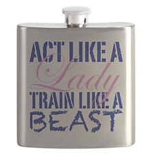Act Like A Lady Flask