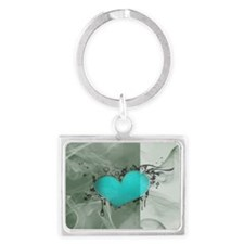 Heart and Love Landscape Keychain