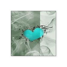 "Heart and Love Square Sticker 3"" x 3"""