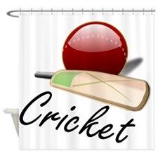 Cricket Paddle And Ball Shower Curtain