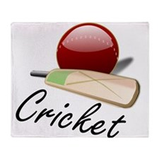 Cricket Paddle And Ball Throw Blanket