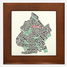 Brooklyn NYC Typography Art Framed Tile