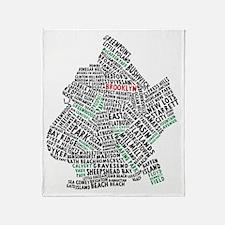 Brooklyn NYC Typography Art Throw Blanket