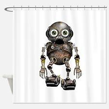 Steampunk Robot Shower Curtain