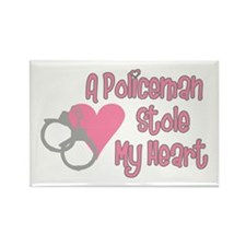 Policeman Stole My Heart Rectangle Magnet