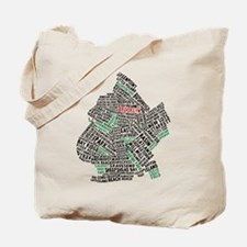 Brooklyn NYC Typography Art Tote Bag