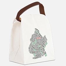 Brooklyn NYC Typography Art Canvas Lunch Bag