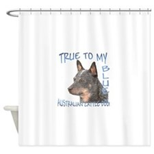 True To My Blue Shower Curtain