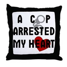 Cop Arrested Throw Pillow