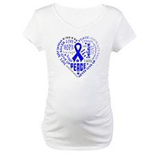 Colon Cancer Heart Words Shirt