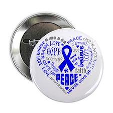 "Colon Cancer Heart Words 2.25"" Button"