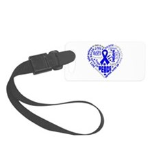 Colon Cancer Heart Words Luggage Tag