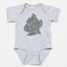 Brooklyn NYC Typography Art Baby Bodysuit