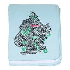 Brooklyn NYC Typography Art baby blanket