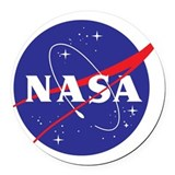 Nasa Round Car Magnets