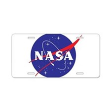 NASA Logo Aluminum License Plate