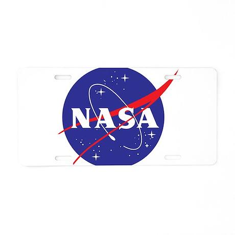 NASA Logo Aluminum License Plate by nasashop