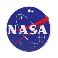 NASA Logo Ornament (Round)
