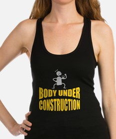 Funny Health fitness exercise athletic athlete Racerback Tank Top