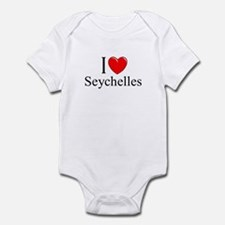 """I Love Seychelles"" Infant Bodysuit"