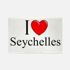 """I Love Seychelles"" Rectangle Magnet"